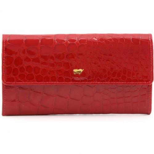 Glanzkroko Geldbörse Leder rot 17,5 cm von Braun Büffel