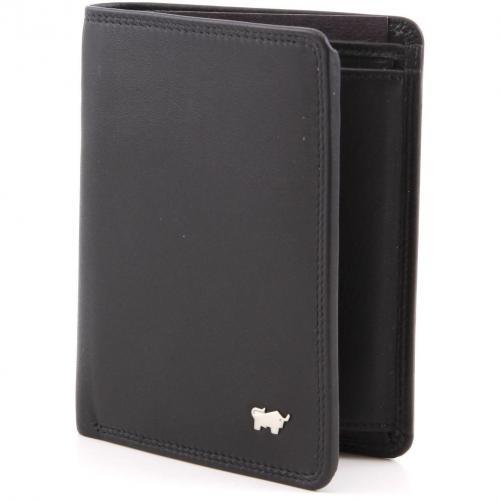 Golf Geldbörse Leder schwarz 12,3 cm von Braun Büffel