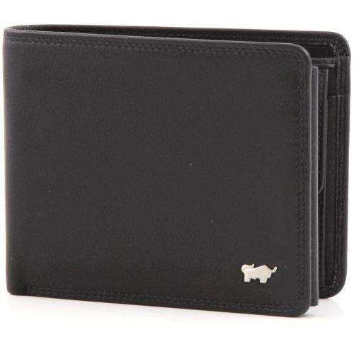 Golf Geldbörse Leder schwarz 12 cm von Braun Büffel