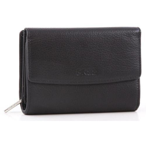 Montpellier 108 Geldbörse Damen Leder schwarz 13 cm von Bree