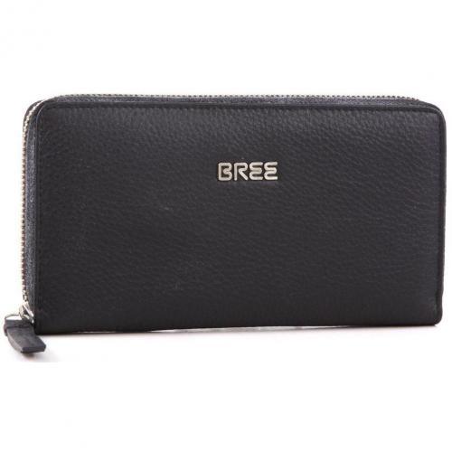 Nola 101 Geldbörse Damen Leder schwarz 20 cm von Bree