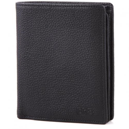 Pocket 115 Geldbörse Leder schwarz 12,5 cm von Bree