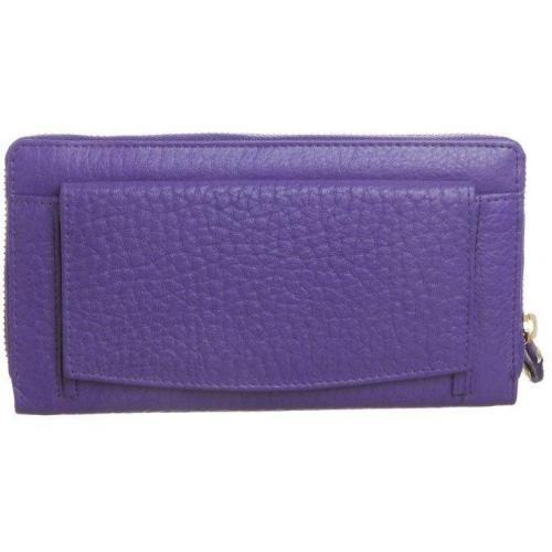 Full Grain Bubble Geldbörse purple von by LouLou
