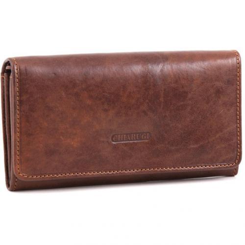 Classic Geldbörse Damen Leder braun 17 cm von Chiarugi