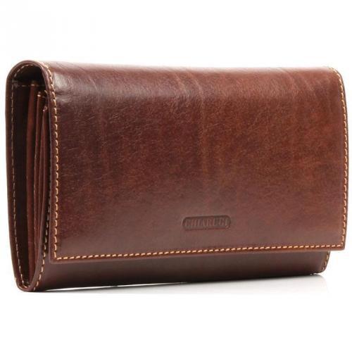 Geldbörse Leder braun 18 cm von Chiarugi