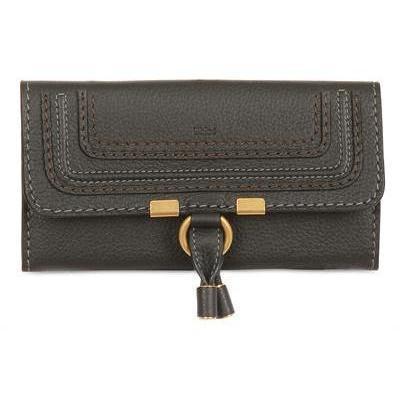 Leder Marcie Continental Brieftasche von Chloé