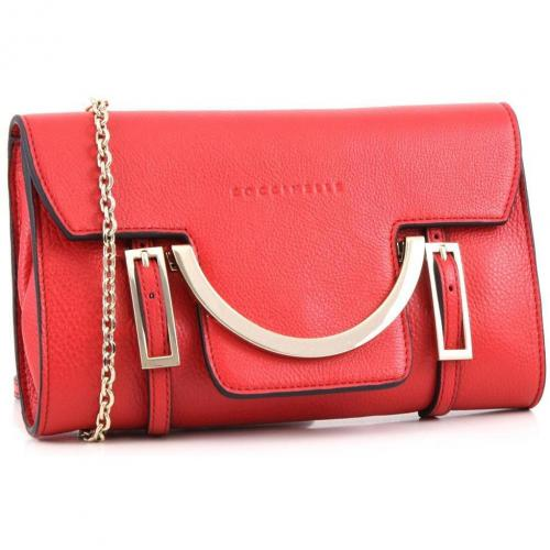 Celeste Clutch Leder rot 24 cm von Coccinelle