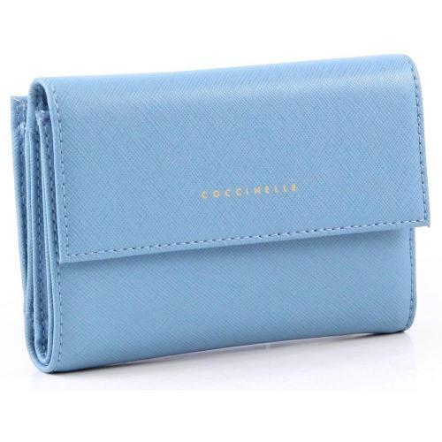 Lady Geldbörse Damen Leder hellblau 14 cm von Coccinelle