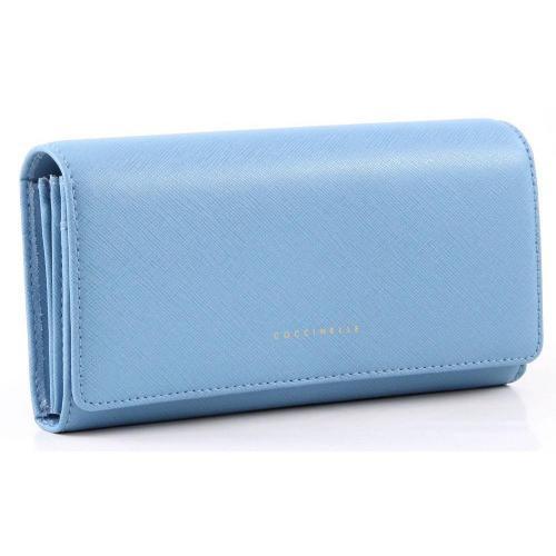 Lady Geldbörse Damen Leder hellblau 19,5 cm von Coccinelle