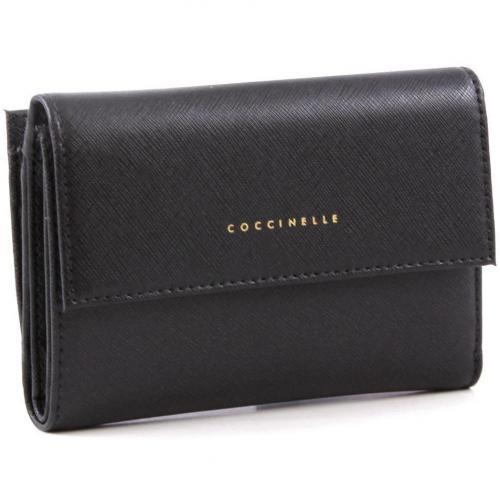 Lady Geldbörse Damen Leder schwarz 14 cm von Coccinelle