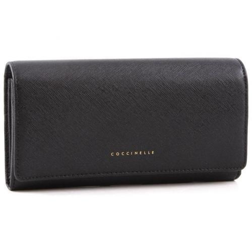 Lady Geldbörse Damen Leder schwarz 19,5 cm von Coccinelle