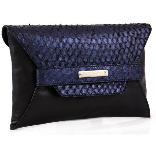 Clutch Leder black multi 27 cm von Escada