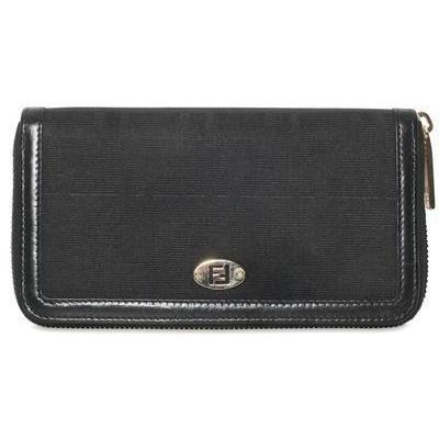 Brieftasche Im Zucca Jacquard black von Fendi