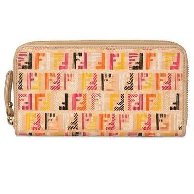 Logo Brieftasche aus PVC und Leder von Fendi
