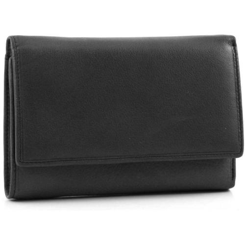 Börse Plain W. Geldbörse Damen Leder schwarz 15 cm von FredsBruder