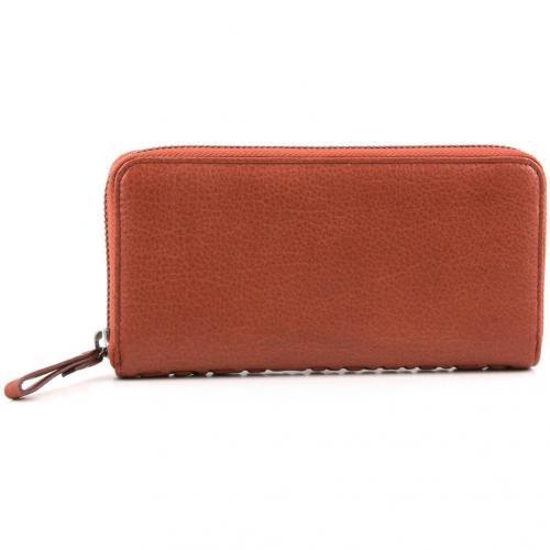 Börse RV groß Geldbörse Damen Leder orange 18 cm von FredsBruder