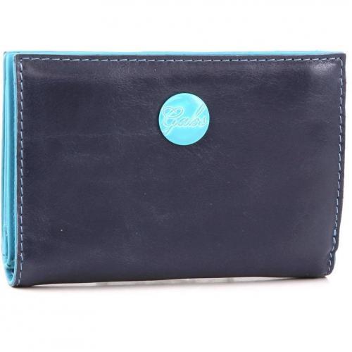 Gmoney 14 Geldbörse Damen Leder blau 14 cm von Gabs