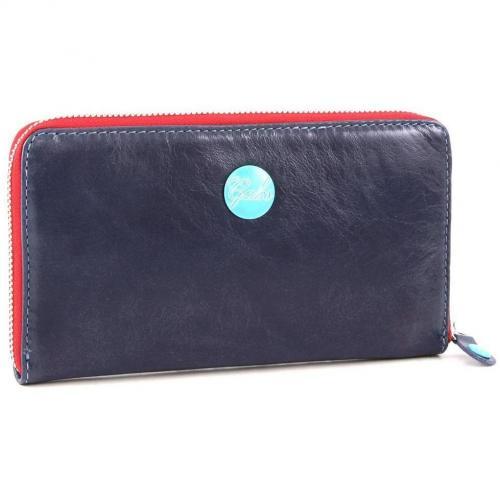 Gmoney 17 Geldbörse Damen Leder blau 19 cm von Gabs