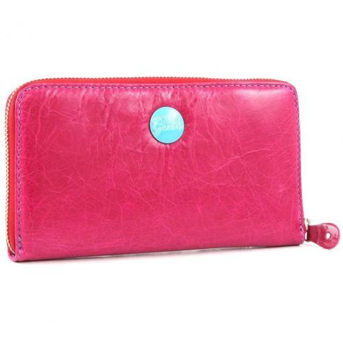 Gmoney 17 Geldbörse Damen Leder pink 19 cm von Gabs