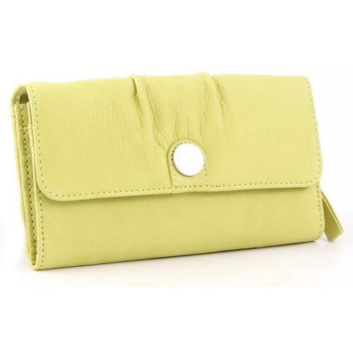 Candy Swane Geldbörse Damen Leder gelbgruen 19 cm von George Gina & Lucy