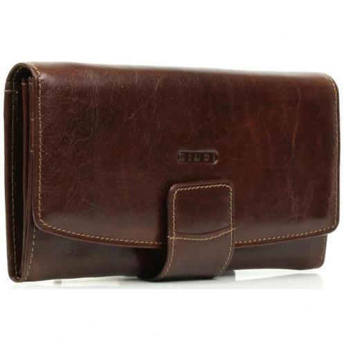Geldbörse Leder braun 18,5 cm von Giudi
