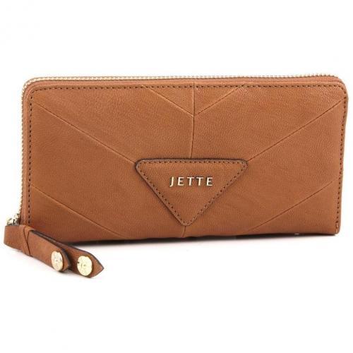 Mrs. Stevens Geldbörse Damen Leder cognac 19 cm von Jette