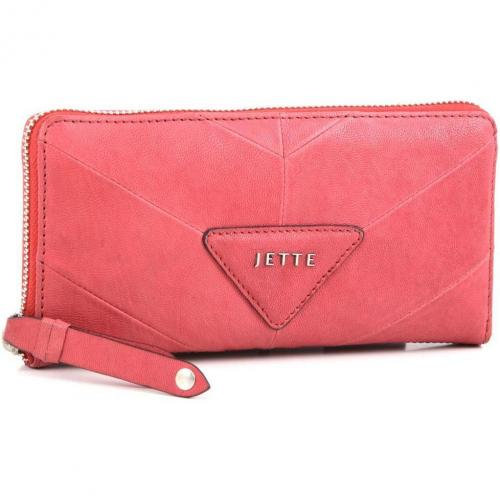 Mrs. Stevens Geldbörse Damen Leder rot 19 cm von Jette