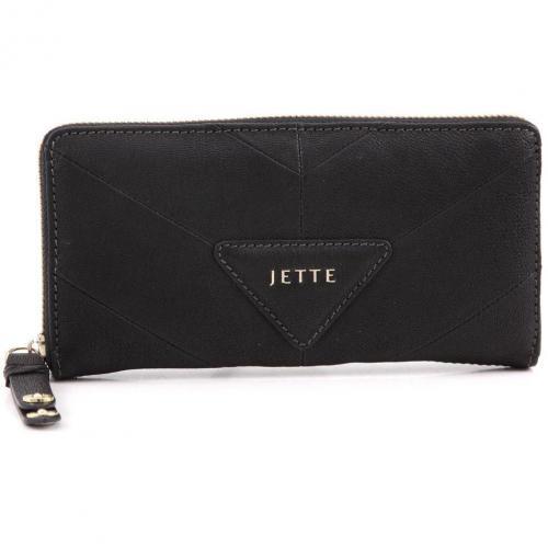 Mrs. Stevens Geldbörse Damen Leder schwarz 17,5 cm von Jette