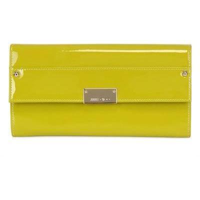 Reese Clutch aus Lackleder gelbgrün von Jimmy Choo