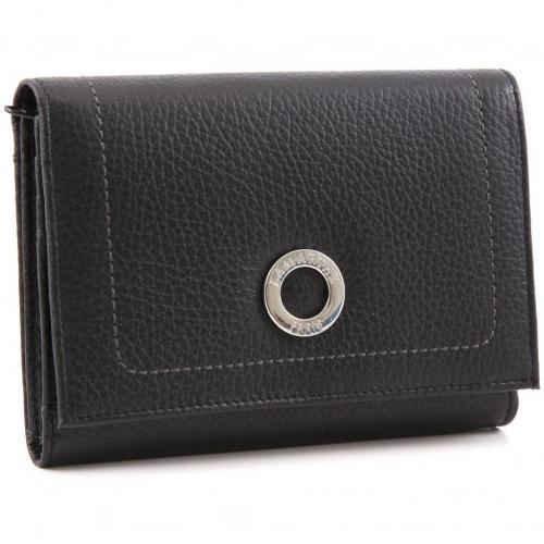 Paris PM Geldbörse Damen Leder schwarz 14,7 cm von Lamarthe