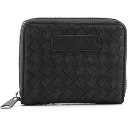 Braided Conny Geldbörse Damen Leder schwarz 12,5 cm von Liebeskind
