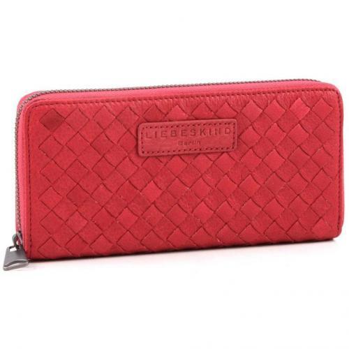 Braided Sally Geldbörse Damen Leder rot 19 cm von Liebeskind