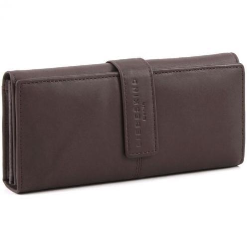 Pull Up Leather Leonie Geldbörse Damen Leder dunkelbraun 19,5 cm von Liebeskind