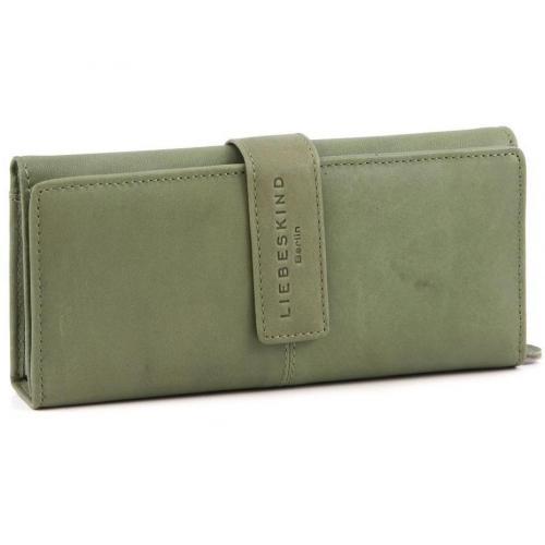 Pull Up Leather Leonie Geldbörse Damen Leder olivgruen 19,5 cm von Liebeskind