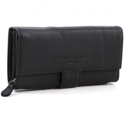 Vintage Anika Geldbörse Damen Leder schwarz 18 cm von Liebeskind