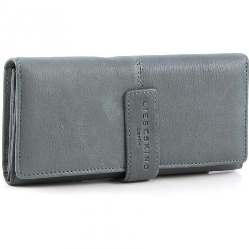 Vintage Leonie Geldbörse Damen Leder grau 19 cm von Liebeskind