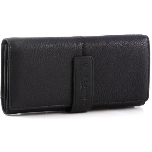 Vintage Leonie Geldbörse Damen Leder schwarz 19 cm von Liebeskind