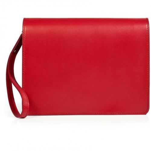 Pepper Red Leather Clutch von Maison Martin Margiela