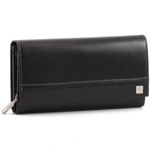 Catch All Geldbörse Damen Leder schwarz 19 cm von Mandarina Duck