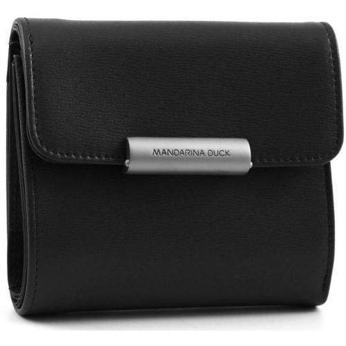 Hera Business Geldbörse Damen Leder schwarz 11,5 cm von Mandarina Duck
