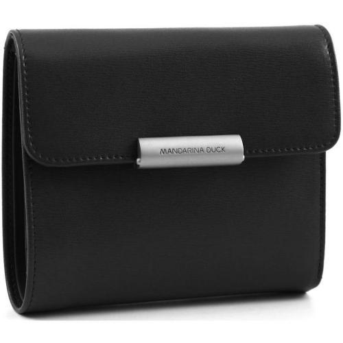 Hera Business Geldbörse Damen Leder schwarz 13,5 cm von Mandarina Duck