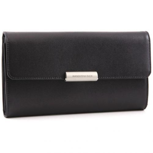 Hera Business Geldbörse Damen Leder schwarz 19,5 cm von Mandarina Duck