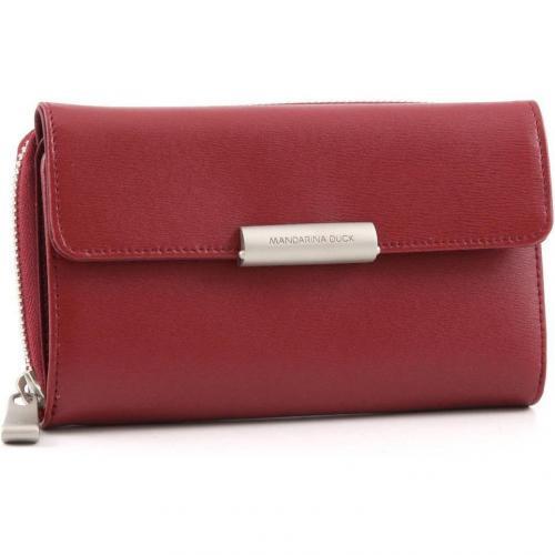 Hera Geldbörse Damen Leder rot 16,5 cm von Mandarina Duck
