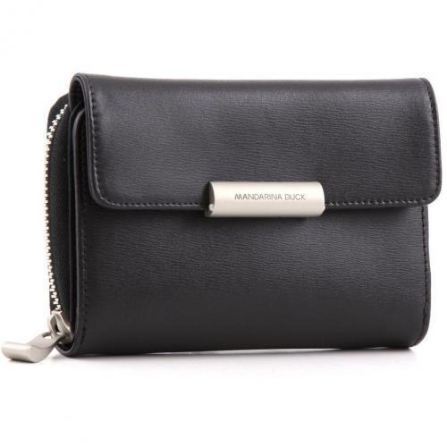 Hera Geldbörse Damen Leder schwarz 14 cm von Mandarina Duck