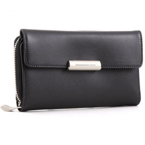 Hera Geldbörse Damen Leder schwarz 16,5 cm von Mandarina Duck