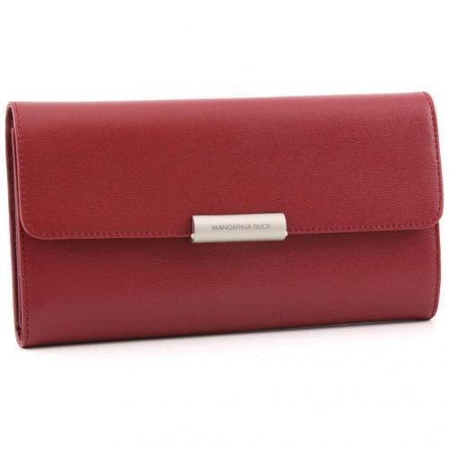 Hera Geldbörse Damen Leder rot 19,5 cm von Mandarina Duck