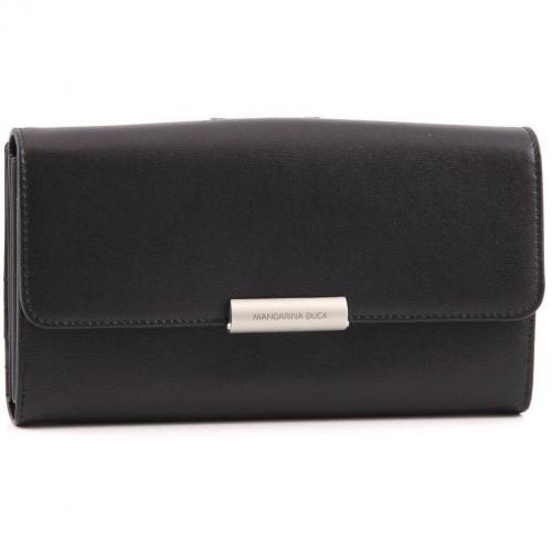 Hera Geldbörse Damen Leder schwarz 19,5 cm von Mandarina Duck