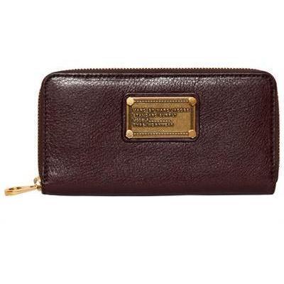 Classic Q Leder Vertikale Zip Brieftasche von Marc By Marc Jacobs