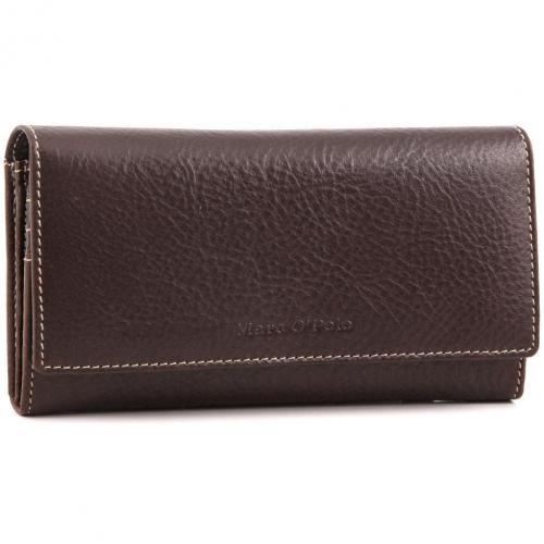 Kent Geldbörse Damen Leder dunkelbraun 19 cm von Marc O'Polo