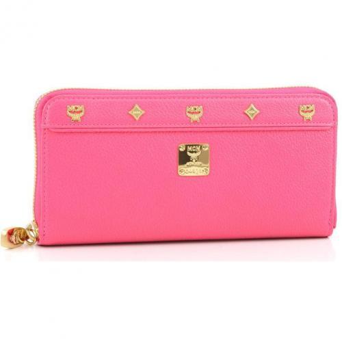 First Lady Geldbörse Damen Leder pink 19 cm von MCM